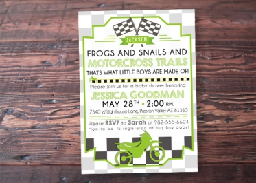 """Received a lot of wonderful compliments on these adorable, creative invitations! Wonderful shop to work with, received my prints in a very timely manner. Great shop!! :)"" - Megan"